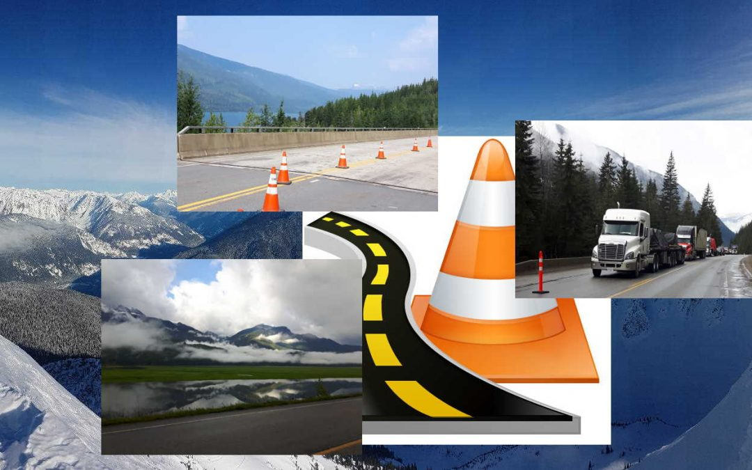 Traffic Control of various types throughout British Columbia as seen here set in the Rocky Mountain regions.